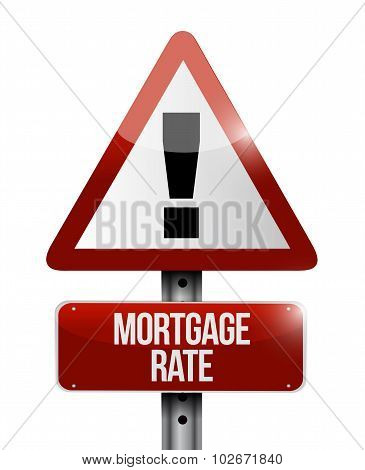 Mortgage Rate Warning Road Sign Concept