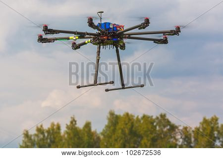 Multicopter in flight