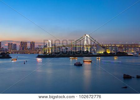 Rainbow Bridge Odaiba Tokyo Japan Important Destination To Visiting View Point