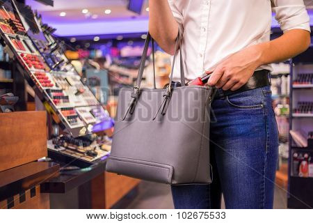 Shoplifter At Work