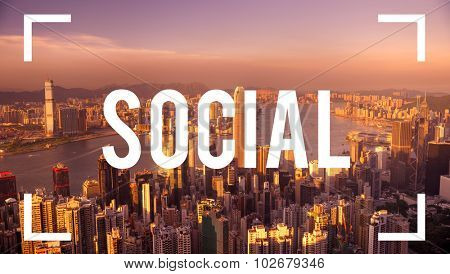 Social Media Networking Communication Concept