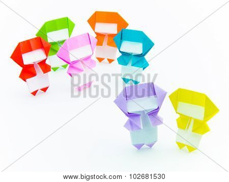Colorful Origami Ninja