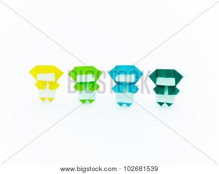 Colorful Origami Ninja