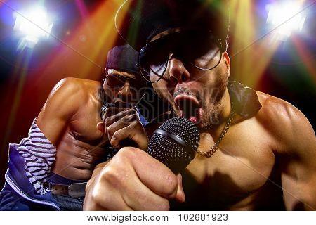 Hip Hop Rap Group Concert