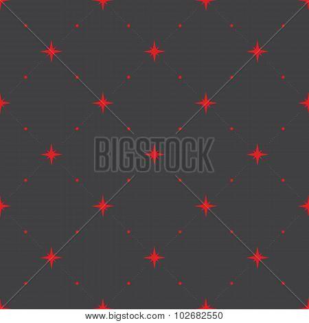 Seamless Geometric Pattern With Stars.