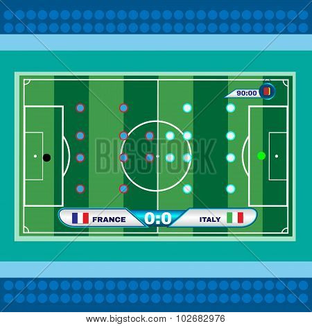 Football Playfield Top View