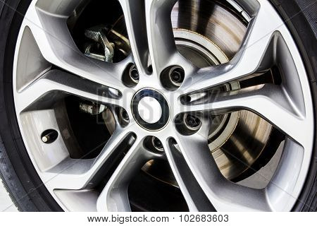Close Up Alloy Wheel