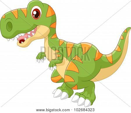 Cartoon adorable dinosaur