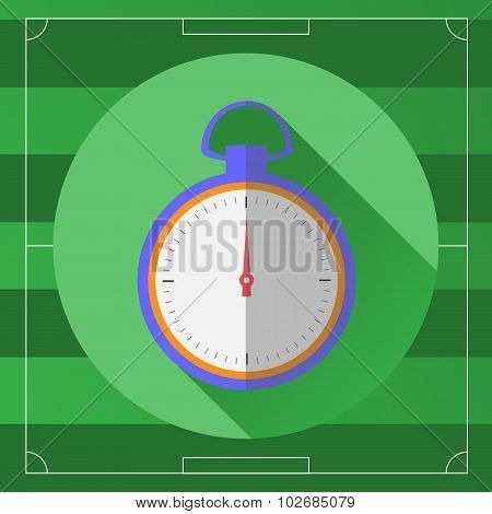 Soccer Stopwatch Round Icon