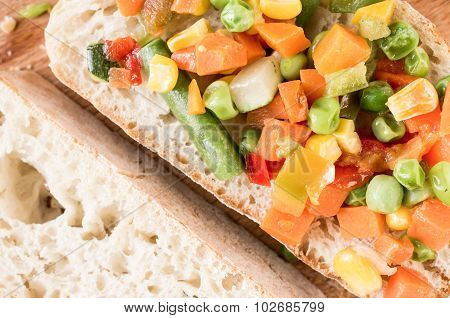 Vegetables Sandwich
