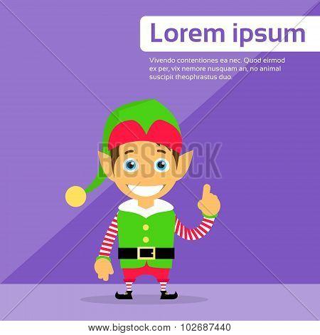 Christmas Elf Cartoon Character Santa Helper