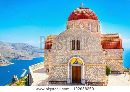 The Monastery of Agios Savvas in Kalymnos, Greece