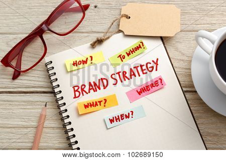 Brand Strategy Marketing Concept