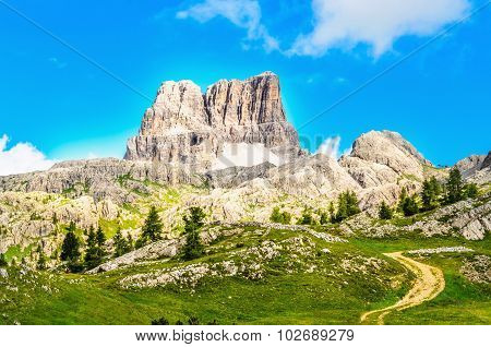 Monte Averau mointain in Dolomites, northern Italy