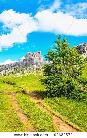 The path to Monte Averau, Dolomites Italy