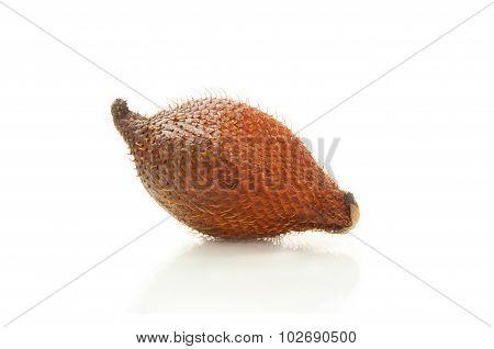 Salak fruit isolated on white background.