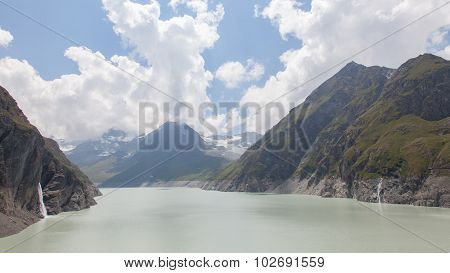 The Green Waters Of Lake Dix - Dam Grand Dixence - Switzerland