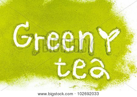 Green Tea Matcha With A