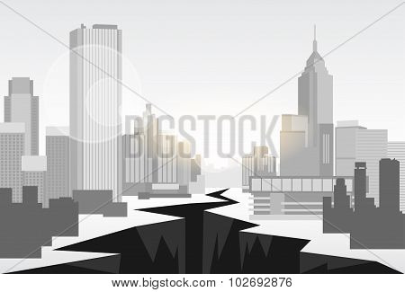 Hole Street Financial Crisis City Center Concept