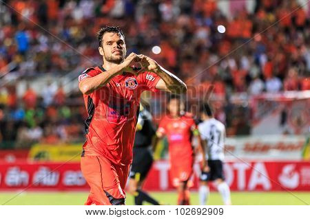 Sisaket Thailand-september 16: Victor Amaro Of Sisaket Fc. In Action During Thai Premier League Betw