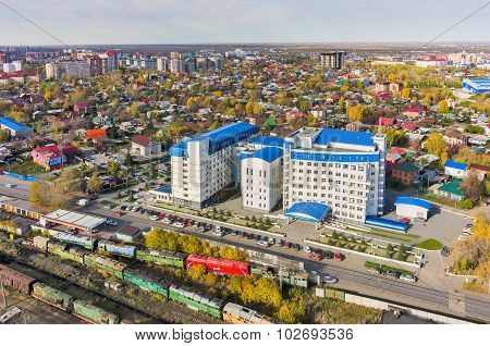 Building of tax inspection. Tyumen. Russia