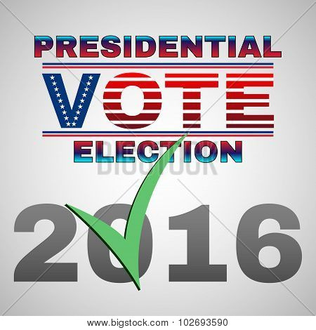 Presidential Vote Election Banner