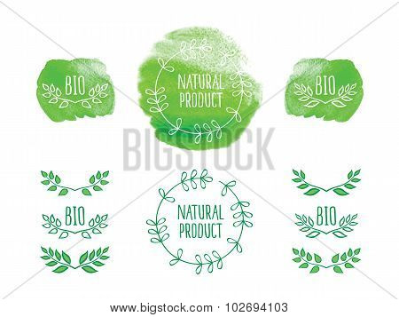 Elements for bio, organic, natural products.