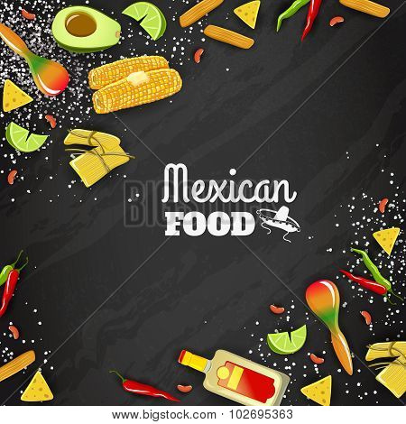 Mexican Food Seamless Background