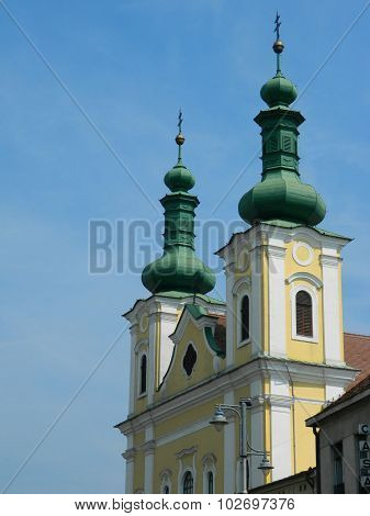 Targu Mures Church Next To Cathedral In City Center.