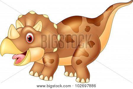 Dinosaur triceratops,vector illustration