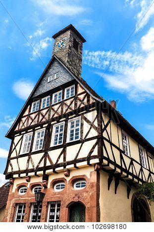 Historic Old Town Hall in Ortenberg, Germany