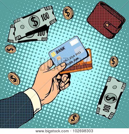 Bank card business discounts money finance sale