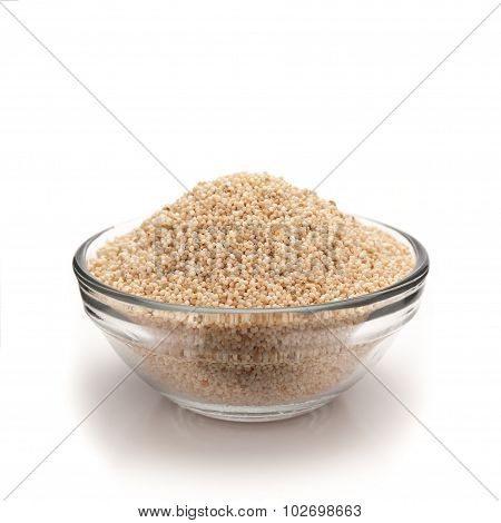 Front view of bowl of Organic White Poppy seed.