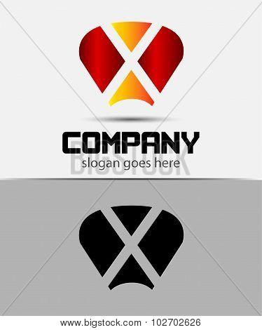 X Letter Logo Design