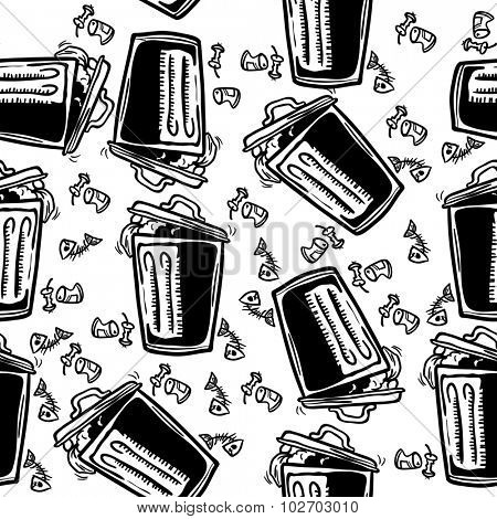 trash can seamless pattern