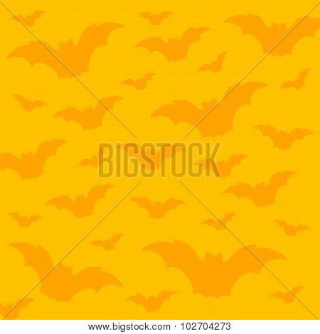 Seamless halloween pattern with bats