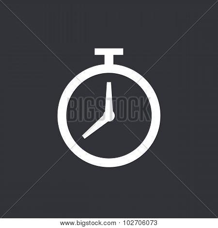 Timer icon, modern minimal flat design style. Stopwatch symbol, vector illustration