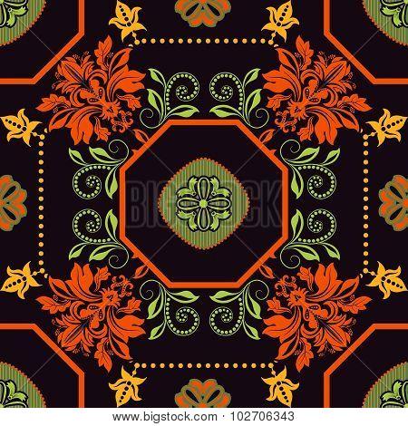 Geometrical tile pattern. Ornamental background
