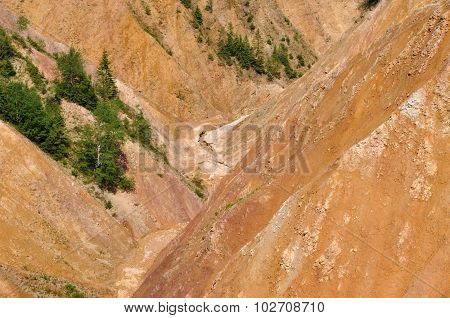 Ravine, Erosion Of Geological Layers