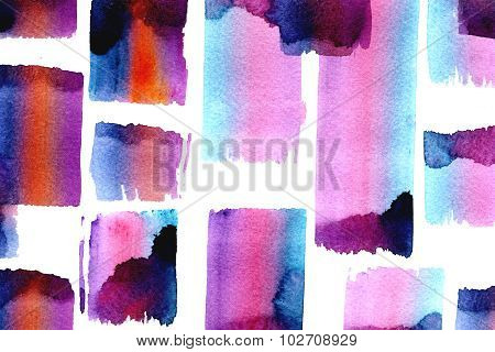 Bright Watercolor Splotches