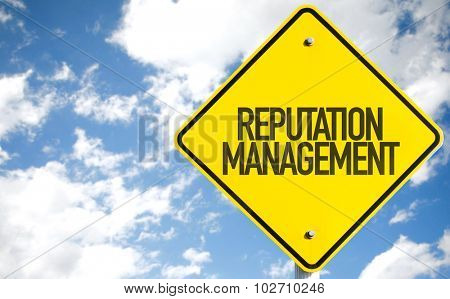 Reputation Management sign with sky background