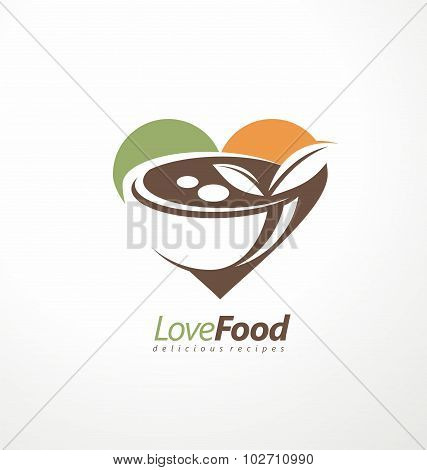 Food and restaurant logo design idea