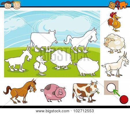 Cartoon Preschool Task For Kids