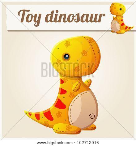 Toy dinosaur 6. Cartoon vector illustration. Series of children's toys