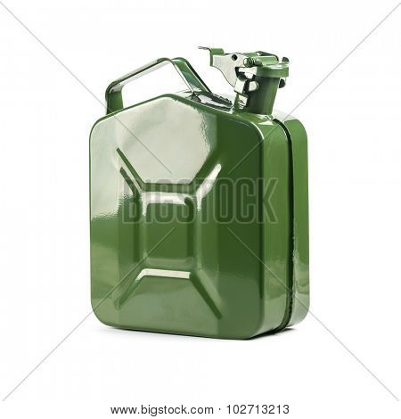 green canister isolated on white