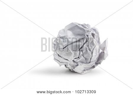 paper ball isolated on white