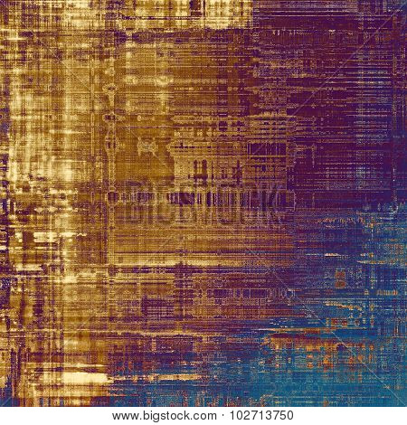 Old Texture or Background. With different color patterns: yellow (beige); brown; purple (violet); blue
