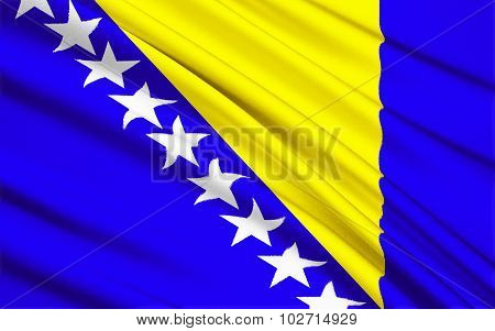The Flag Of Bosnia And Herzegovina - Europe