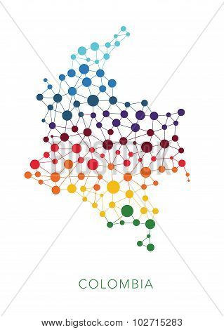 dotted texture Colombia vector background