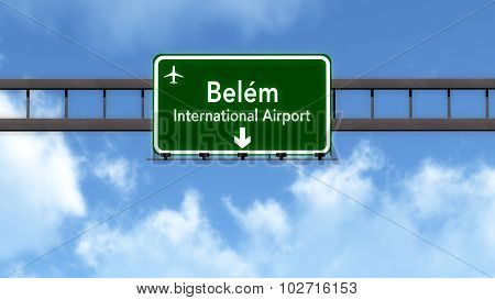 Belem Brazil Airport Highway Road Sign